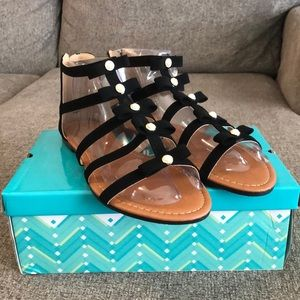 Anna Black Meg Sandals, size 8.5